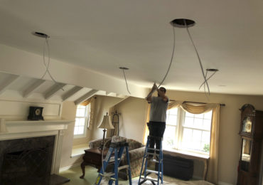 Orange County Chandelier Installation